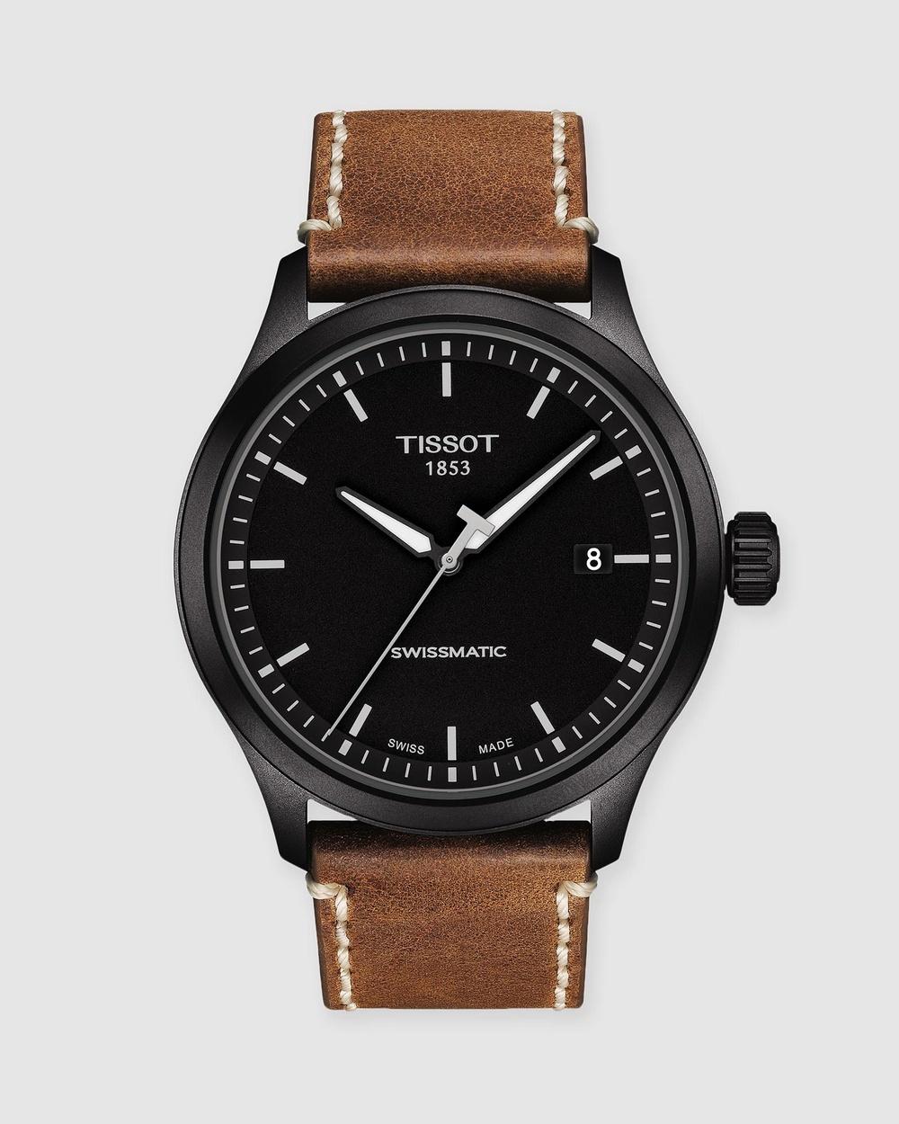 Tissot Gent XL Swissmatic Watches Black & Brown