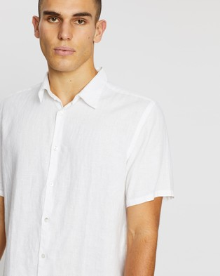 Assembly Label Casual Short Sleeve Shirt - Casual shirts (White)