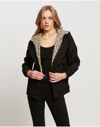 All About Eve - Leopard Reversible Spray Jacket