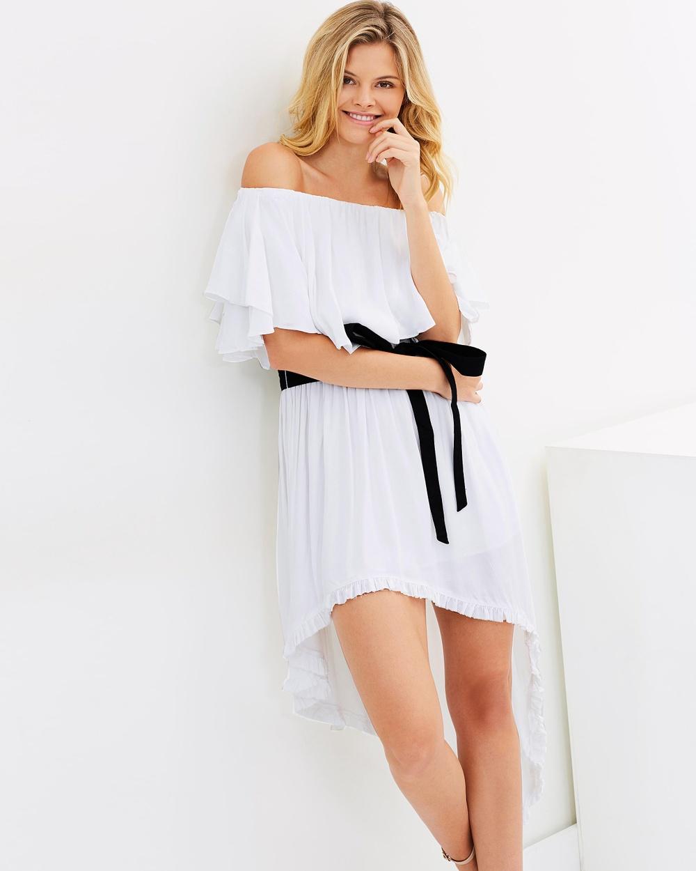 MLM Label Poem Shoulder Dress Dresses White Poem Shoulder Dress