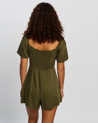 All About Eve Juliette Romper - Jumpsuits & Playsuits (Khaki)