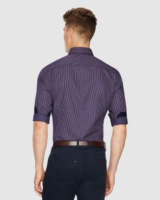 Tarocash Hosking Slim Check Shirt - Shirts & Polos (BERRY)