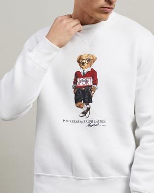 Polo Ralph Lauren Long Sleeve Knit Crew Neck - Sweats (White)