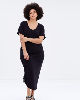Harlow – Love Is A Stranger Ruched Maxi Black