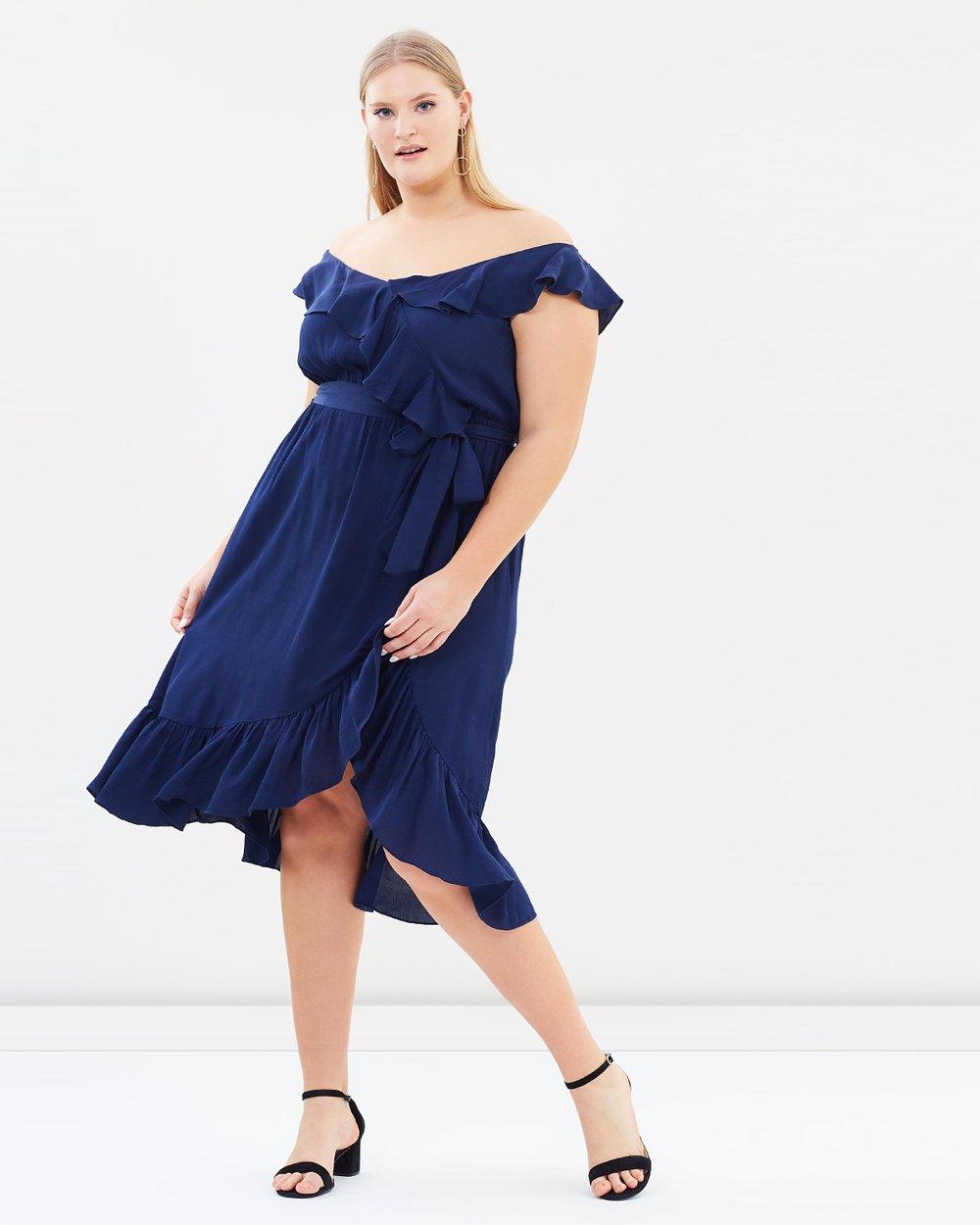 26d682a5940 Ruffle Wrap Midi Dress by DP Curve Online