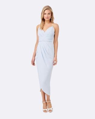 Forever New – Charlotte Drape Maxi Dress – Bridesmaid Dresses (Blue Ice)