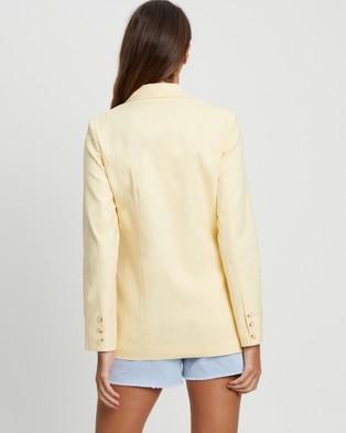 Calli Sunshine Blazer - Suits & Blazers (Pastel Yellow)