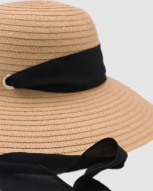 Morgan & Taylor Lou Floppy - Hats (Tan/Black)