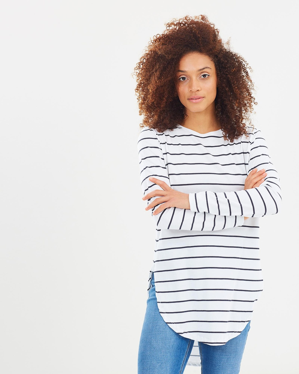 Casa Amuk Teardrop Long Sleeve Tee Tops Classic Stripe Teardrop Long-Sleeve Tee