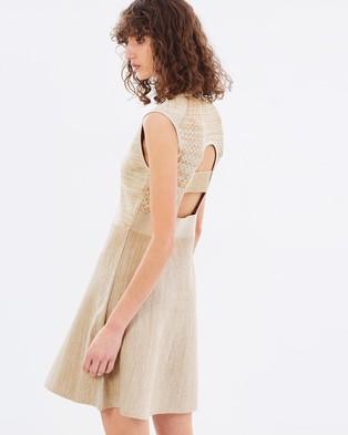 House of Dagmar – Nanette Knitted Dress Bronze