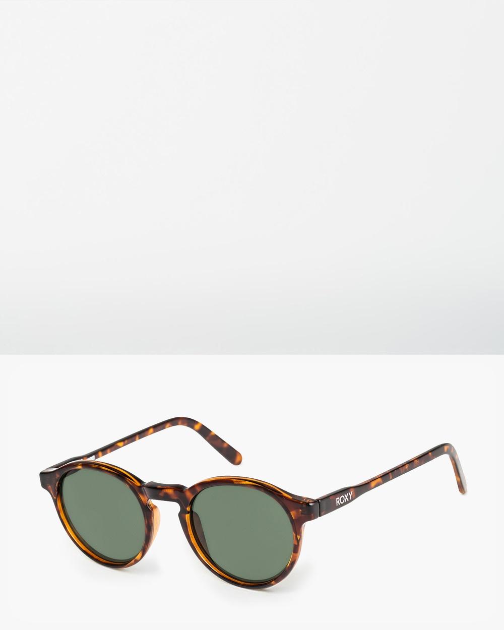 Roxy Womens Moanna Sunglasses SHINY TORTOISE/GREEN