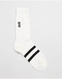 Les Girls Les Boys - Embroidered Logo Stripe Socks
