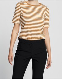 David Lawrence - Cassis Stripe Tee