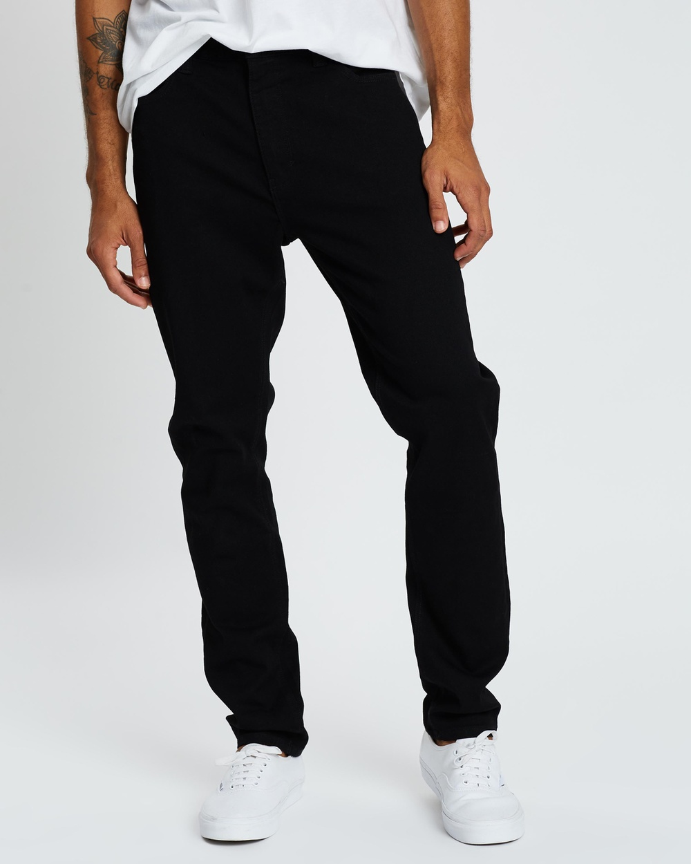 Abrand A Dropped Slim Turn Up Jeans Black Mirror 1324