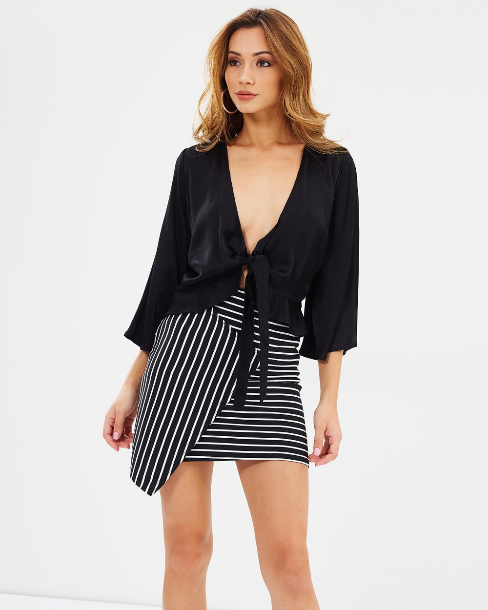 d36fe18a82 Stripe Wrap Mini Skirt by Missguided Online