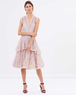 Lover – Vine Tier Midi Dress – Dresses (Dusty)