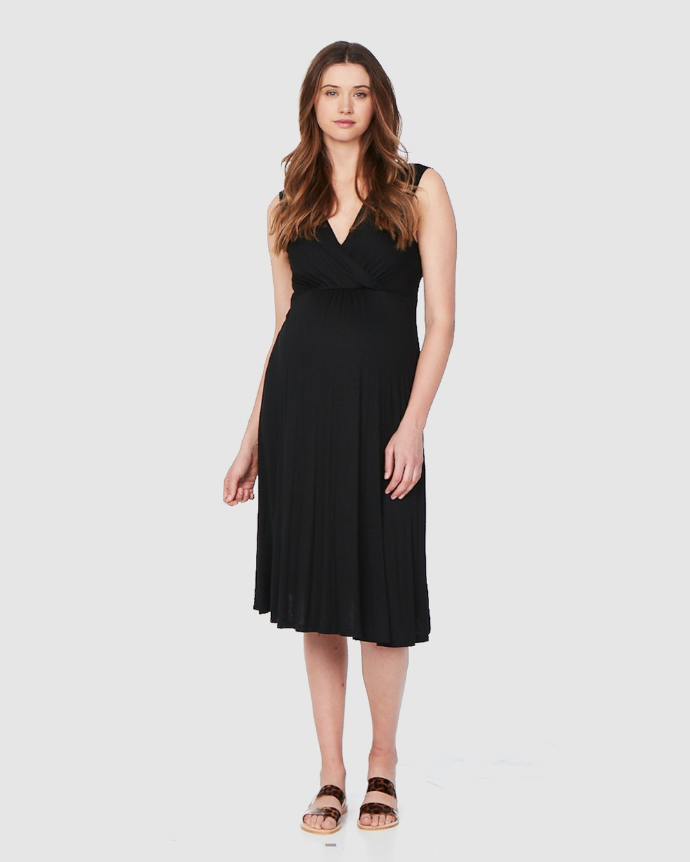 Soon Maternity Black Rio Feeding Dress