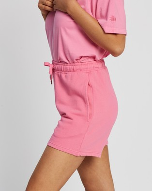 Stussy - Text Low Waisted Shorts - Shorts (Orchid) Text Low Waisted Shorts