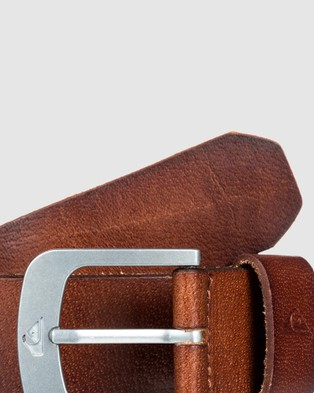 Quiksilver Mens The Everydaily Leather Belt - Belts (Chocolate)