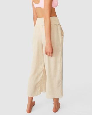 Cotton On Body - Shirred Waist Beach Pants Swimwear (Natural)