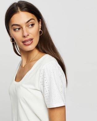 DRICOPER DENIM Nova Loose Tee - T-Shirts & Singlets (White Broderie )