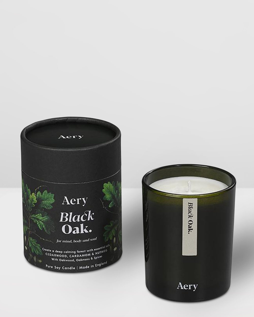 Aery Living Botanical Green 200g Soy Candle Candles Multi