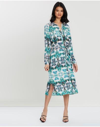Wallis Tie Dye Shirt Dress Turquoise