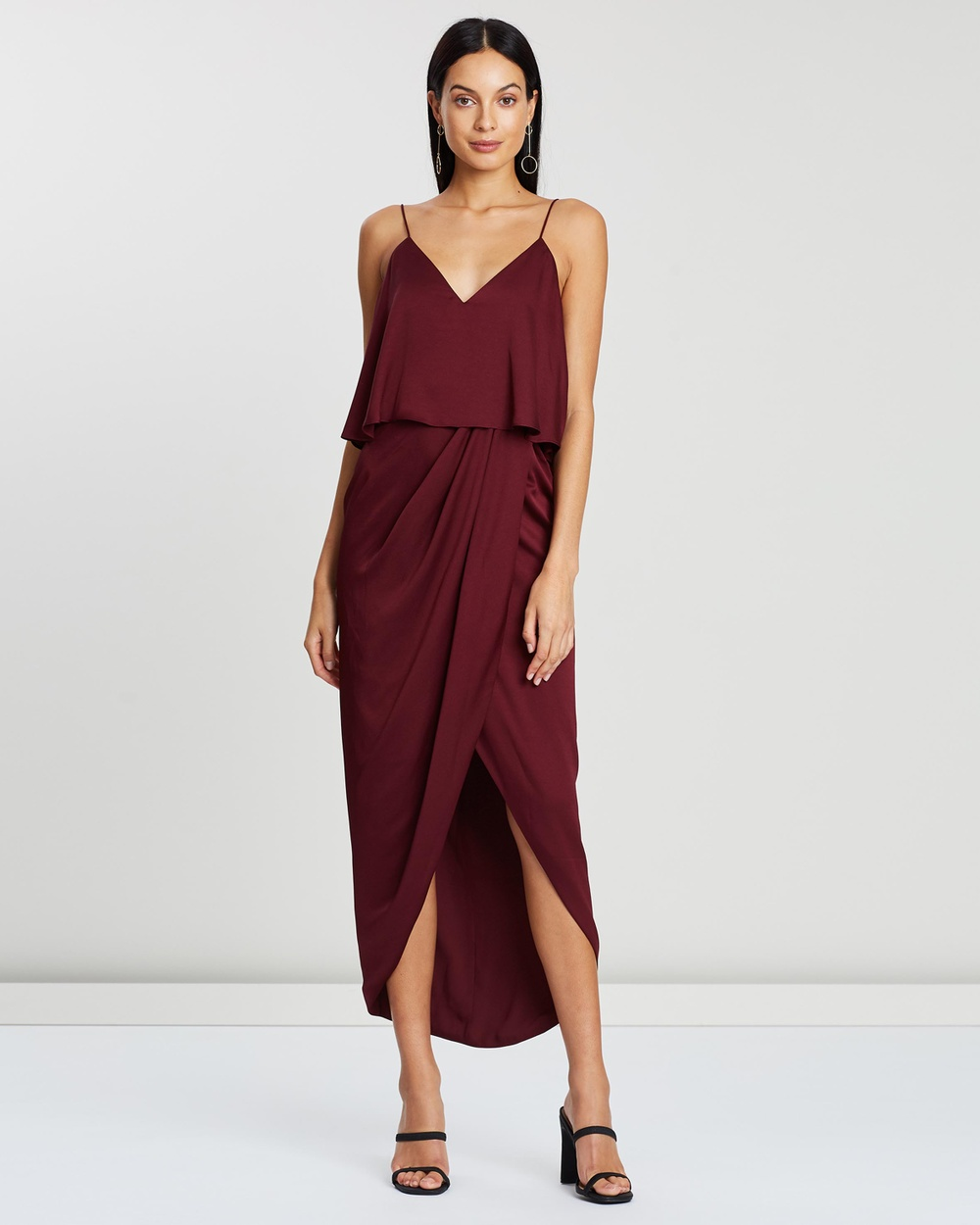 Shona Joy Cocktail Frill Dress Bridesmaid Dresses Garnet Cocktail Frill Dress