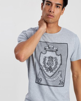 Kent and Curwen Classic Printed T Shirt - T-Shirts & Singlets (Grey)