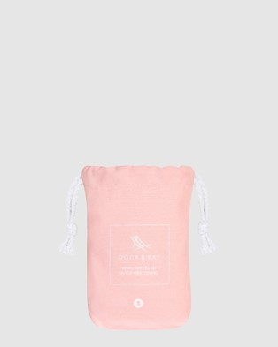 Dock & Bay Small Fitness Towel 100% Recycled Essential Collection - Gym & Yoga (Pink)