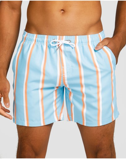 Vacay Swimwear Havana Swim Shorts Light Blue