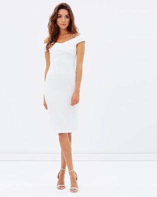 Atmos & Here – Waldorf Off Shoulder Dress – Bodycon Dresses (White)
