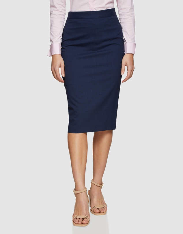 Oxford - Peggy Wool Lycra Suit Skirt
