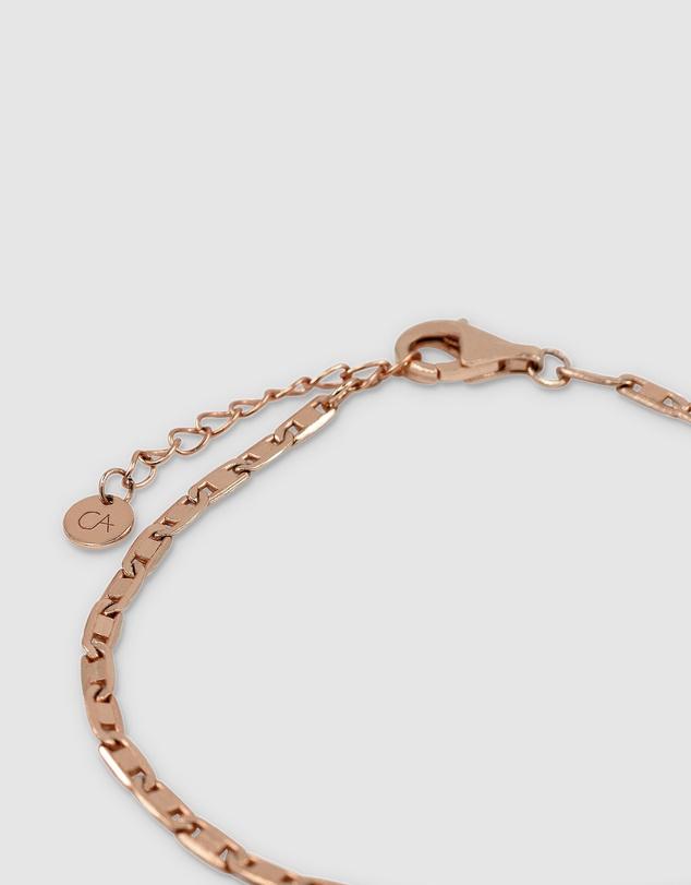Women Anchor Chain Bracelet - Rose Gold