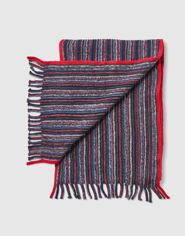 Men Wool Blend Multi Stripe Scarf
