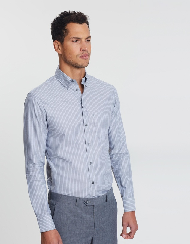 Emporio Armani - LS Pocket Stripe Shirt