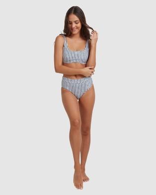 Roxy Womens Printed Beach Classics D Cup Separate Bikini Top - Bikini Tops (NAUTICALI STRIPES MO)