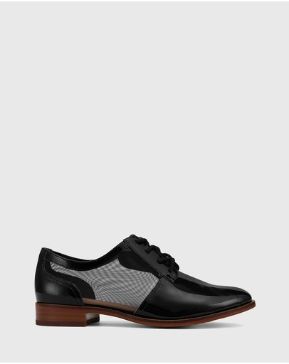 Wittner - Hektor Leather Mesh Cut Out Brogues