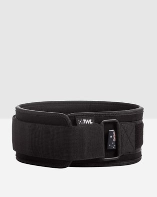 The WOD Life Everyday Velcro Lifting Belt 2.0 - Gym & Yoga (Black)