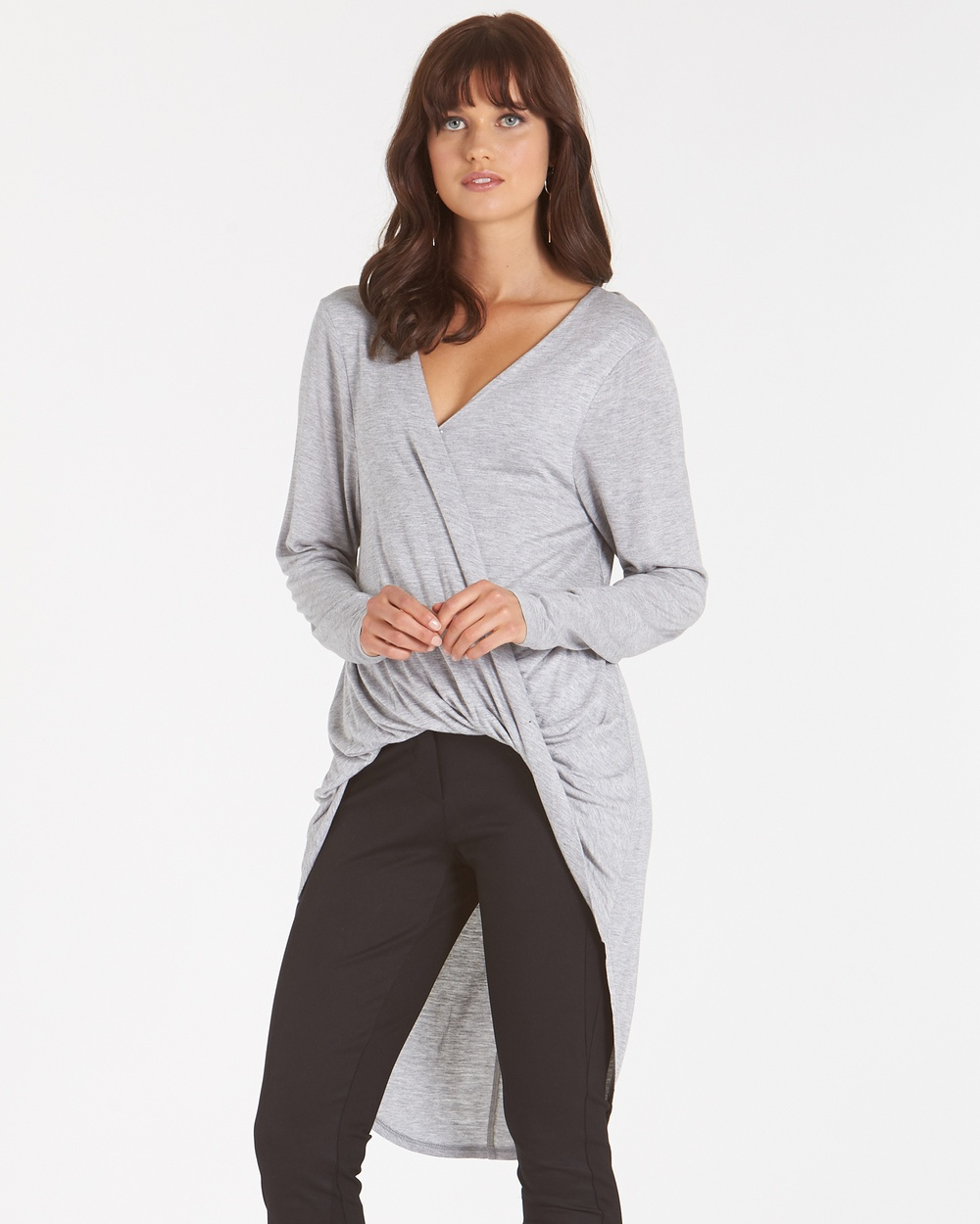 Amelius Shayla Jersey Top Tops Grey Shayla Jersey Top