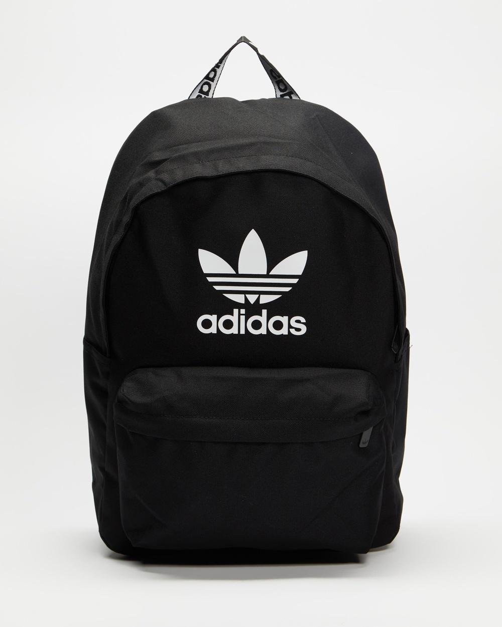 adidas Originals Adicolor Backpack Backpacks Black & White