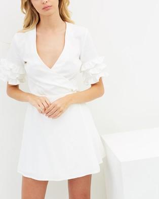 Atmos & Here – Skye Wrap Mini Dress White