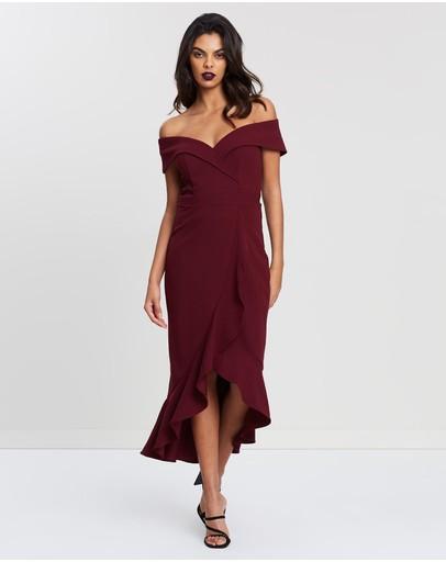 Montique Lolita Cocktail Dress Wine