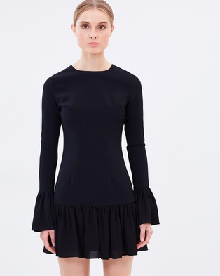 BY JOHNNY. – The Zoe Mini Frill Dress Black