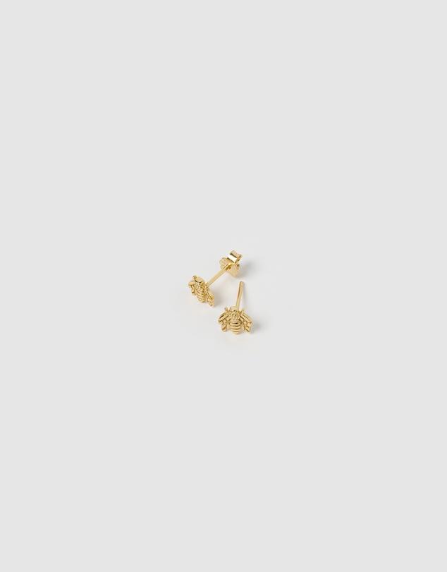 Women Petite Bee Stud Earrings