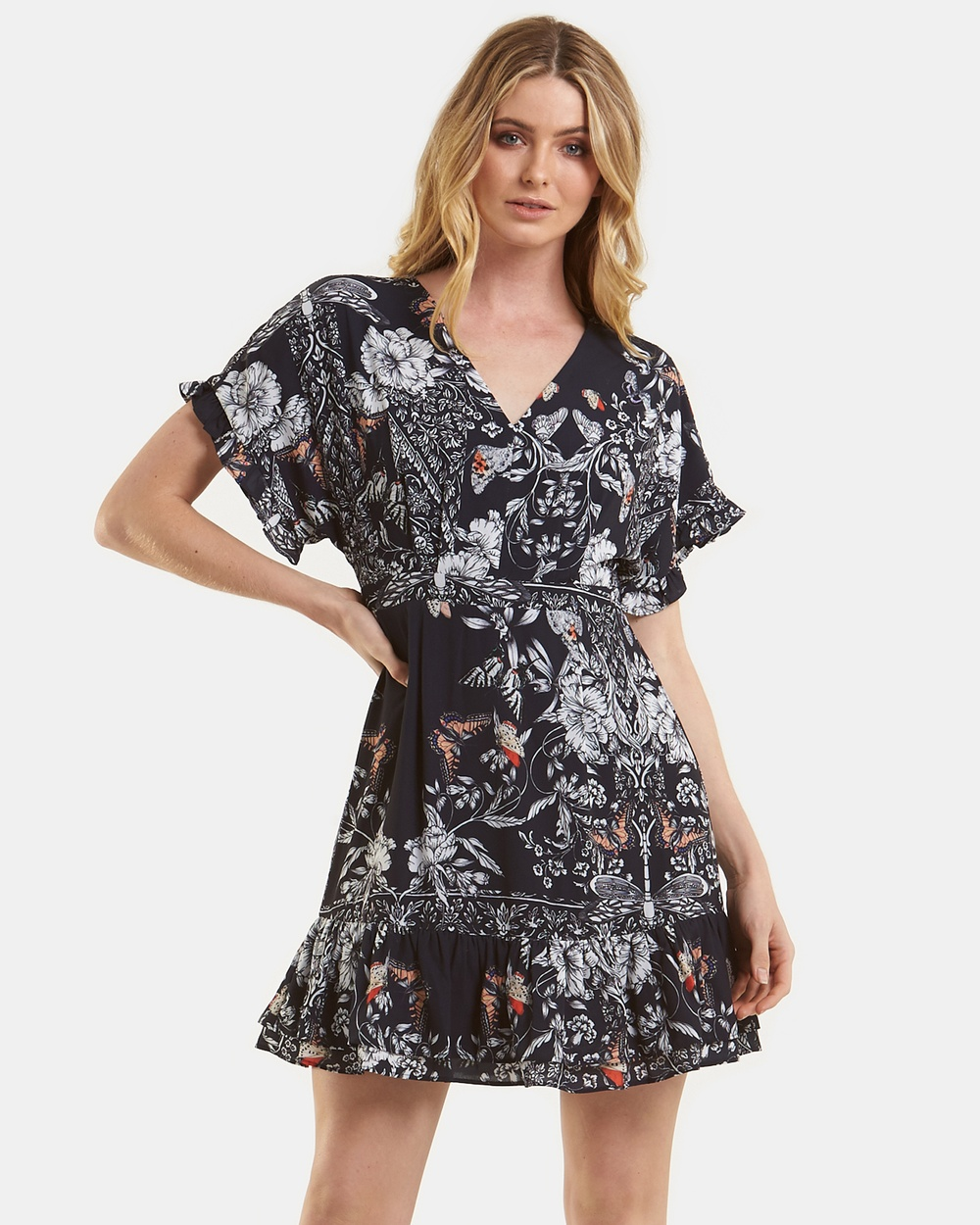 Amelius Wintergarden Mini Dress Dresses Multi Wintergarden Mini Dress