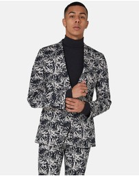 Topman - Palm Print Ultra Skinny Jacket