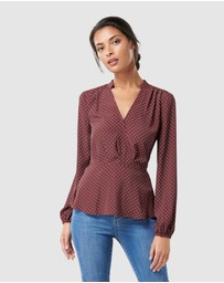 Forever New - Lenni Long Sleeve Wrap Blouse