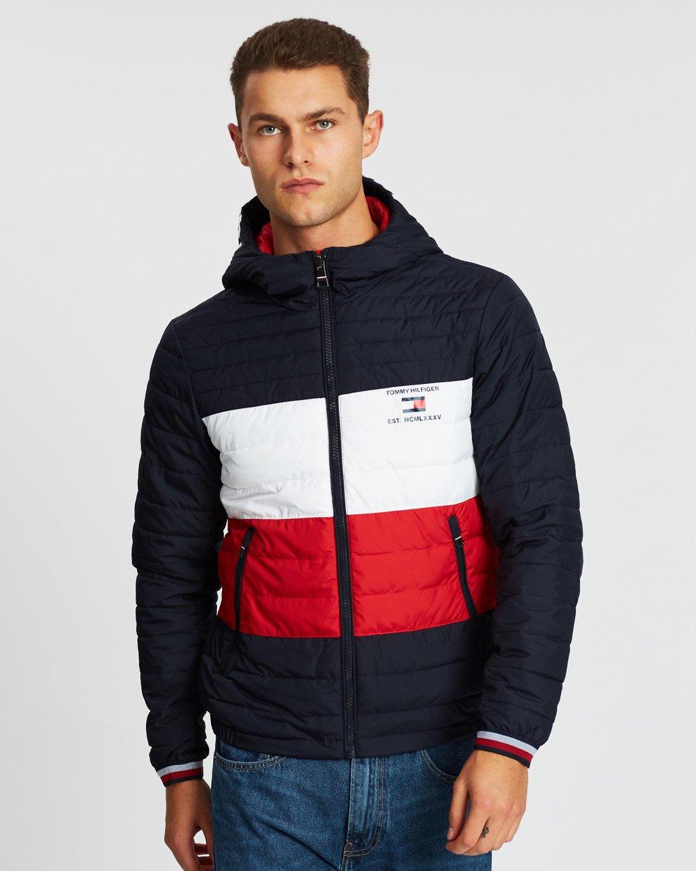 Tommy Hilfiger Womens Iconic Sporty Hooded Windbreaker