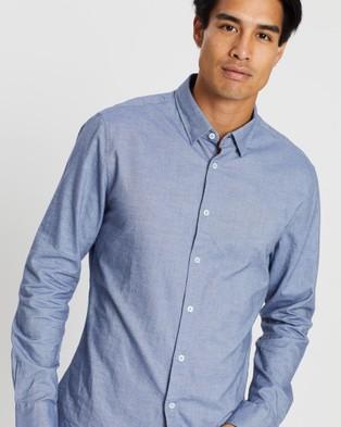 SABA Neil Brushed Cotton Shirt - Casual shirts (blue)